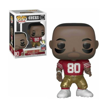 Boneco Jerry Rice 114 49ERS NFL - Pop Funko!