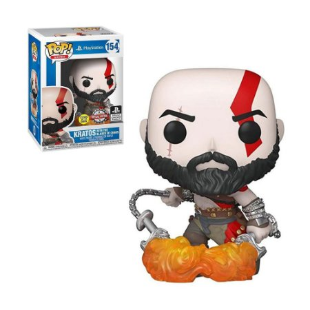 Boneco Kratos With The Blades Of Chaos 154 PlayStation - Funko Pop!
