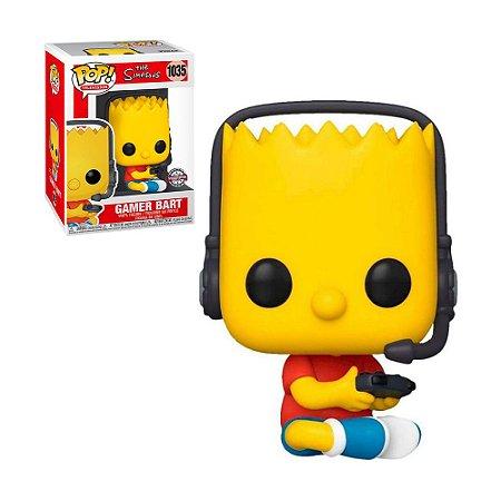 Boneco Gamer Bart 1035 The Simpsons (Special Edition) - Funko Pop!