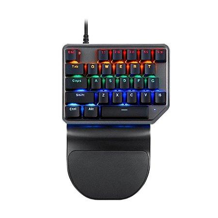 Teclado Mecânico Gamer Motospeed K27 Preto Switch Vermelho Rainbow com fio