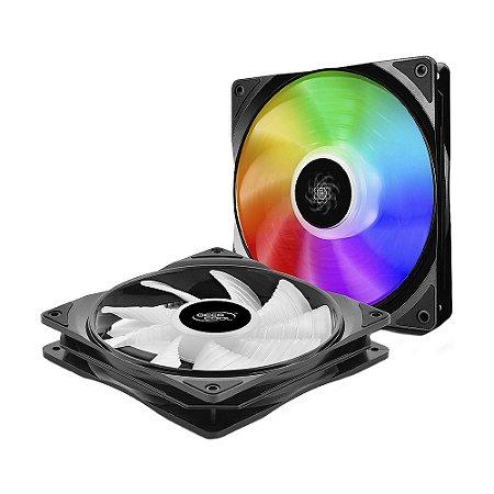 Kit Fan Deepcool CF140 RGB 1200 RPM - PC