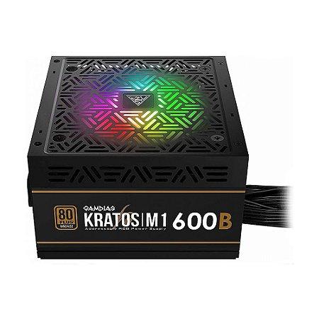 Fonte de Energia Gamdias Kratos M1-600W 80 Plus
