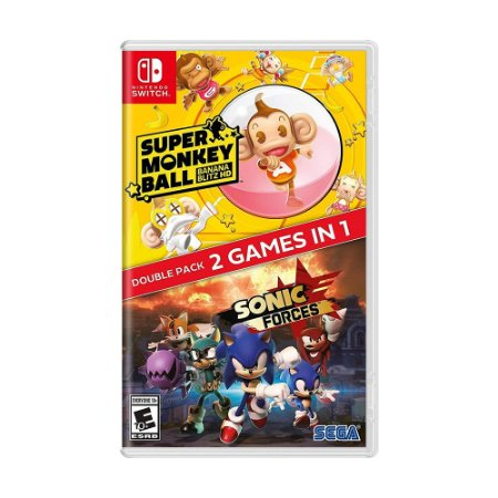 Jogo Sonic Forces + Super Monkey Ball: Banana Blitz HD Double Pack - Switch
