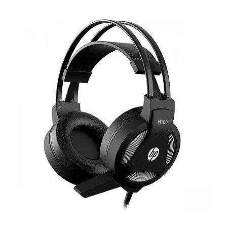 Headset Gamer HP H100 Preto com fio - PC