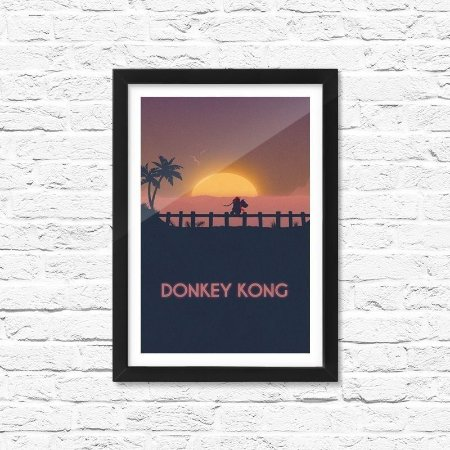 Pôster Emoldurado ShopB Donkey Kong