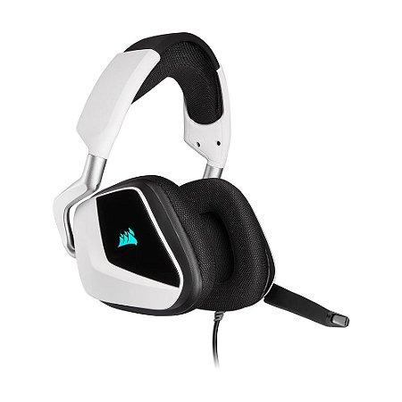 Headset Gamer Corsair Void Elite Branco 7.1 RGB com fio - PC