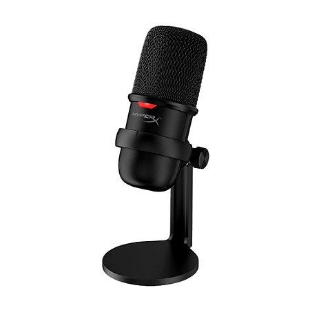 Microfone Condensador HyperX Solocast HMIS1X-XX-BK/G Preto USB - PC e PS4