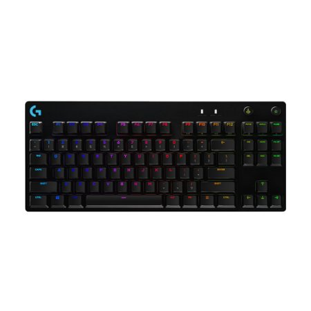 Teclado Mecânico Gamer Logitech PRO X RGB Switch GX Blue Clicky US com fio