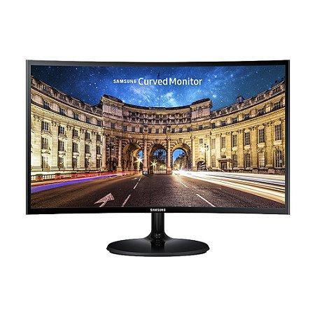 """Monitor Curvo Samsung Essential CF390 Widescreen 27"""" VA AMD FreeSync 60Hz Full HD 4 GTG"""