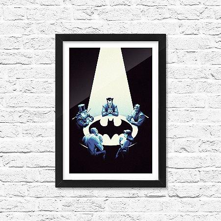 Pôster Emoldurado ShopB Vilões Batman
