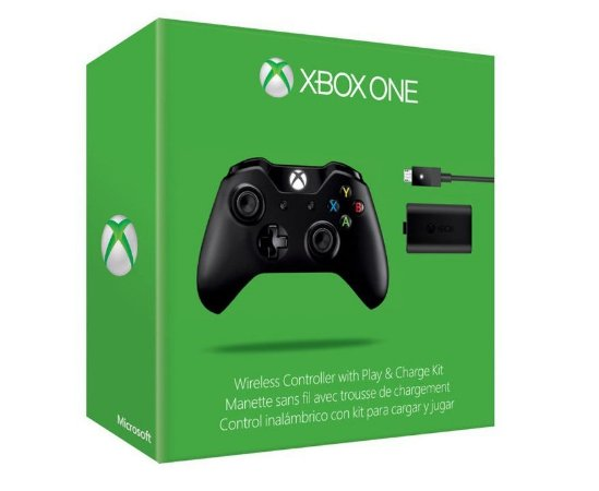 Controle Microsoft Black Piano + Play & Charge - Xbox One
