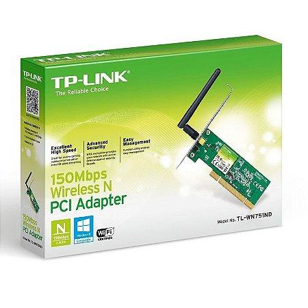 Adaptador Wireless TP-Link PCI - 150 Mbps
