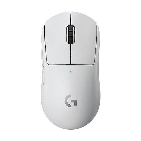 Mouse Gamer Logitech PRO X Superlight 25600dpi Branco sem fio