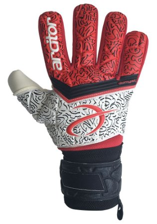 Luvas de Goleiro Arcitor Dumyat Negative Finger Support (Vermelho Branco Preto) XW Elite