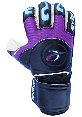 Luvas de Goleiro Arcitor Havik Rollfinger Finger Protection (Preto Roxo Azul) Extended AW Elite
