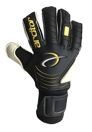 Luvas de Goleiro Arcitor Komino Finger Protection Hybrid Roll/Flat (Preto Laranja) Neoprene AP PRO
