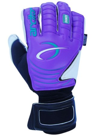 Luvas de Goleiro Arcitor Komino Finger Protection Hybrid Roll/Flat (Roxo Verde) Neoprene AP PRO