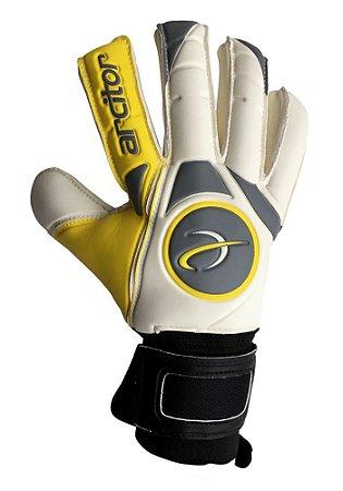 Luvas de Goleiro Arcitor Taganga Negative Finger Protection (Amarelo Branco Preto) XW Elite