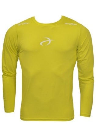 Camisa Térmica Arcitor Manga Longa (Amarelo Fluo e Branco)