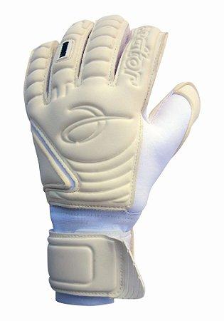 Luvas de Goleiro Arcitor Komino Finger Protection Hybrid Roll/Flat (Branco) Neoprene Extended AW Elite