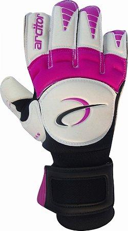 Luvas de Goleiro Arcitor Keras EVA Hybrid Roll/Flat (Branco Rosa) AW Elite