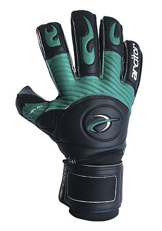 Luvas de Goleiro Arcitor Havik Hybrid Finger Protection (Preto Verde) Extended SCF Elite