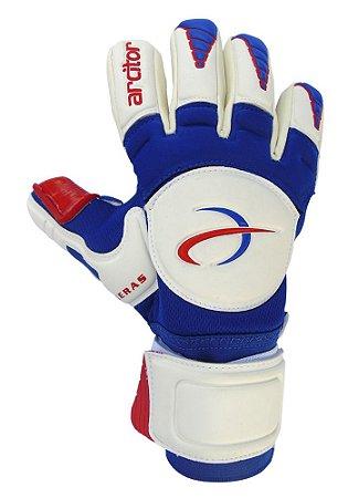 Luvas de Goleiro Arcitor Keras EVA Negative (Branco Azul Vermelho) SCF Elite