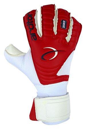 Luvas de Goleiro Arcitor Komino Rollfinger (Branco Vermelho) SCF Elite