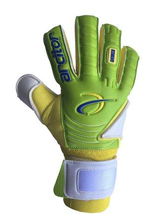 Luvas de Goleiro Arcitor Komino Negative Finger Protection (Verde Amarelo) SCF Elite