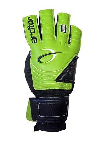 Luvas de Goleiro Arcitor Komino Negative Finger Protection (Verde Preto) SCF Elite
