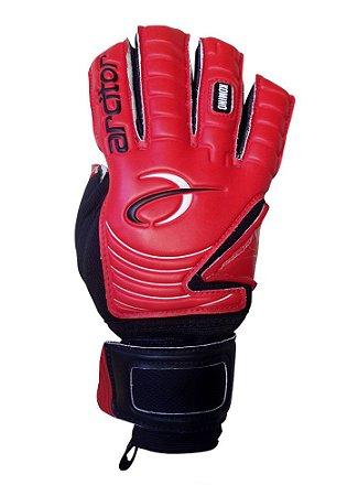 Luvas de Goleiro Arcitor Komino Negative Finger Protection (Vermelho Preto) SCF Elite ZN