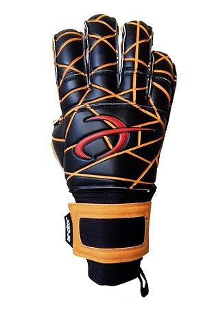 Luvas de Goleiro Arcitor Matka Hybrid Finger Protection (Preto Laranja) AP PRO