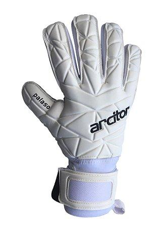 Luvas de Goleiro Arcitor Palaso Negative Finger Protection (Branco Preto) SCF Elite