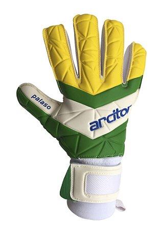 Luvas de Goleiro Arcitor Palaso Negative Finger Protection (Verde Amarelo) XW Elite