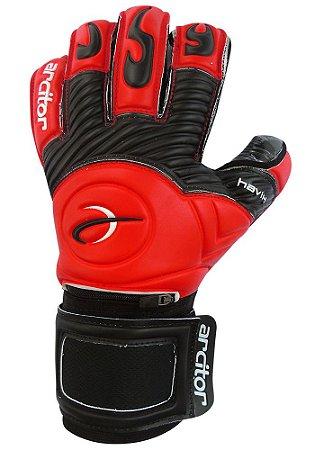 Luvas de Goleiro Arcitor Havik Hybrid Finger Protection (Vermelho Preto) Extended SCF Elite