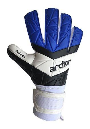 Luvas de Goleiro Arcitor Palaso Negative Semipro (Azul Royal Branco Preto) D-SOFT