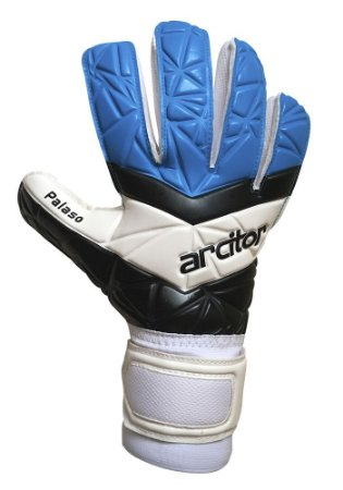 Luvas de Goleiro Arcitor Palaso Negative Semipro (Azul Claro Branco Preto) D-SOFT