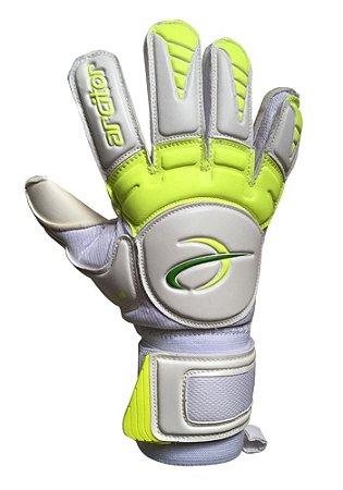 Luvas de Goleiro Arcitor Keras HTEX Flat (Branco Verde-Limão) D-SOFT