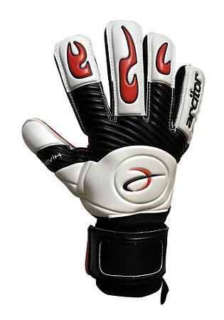 Luvas de Goleiro Arcitor Havik Negative Finger Protection Semipro (Branco Preto Vermelho) D-SOFT