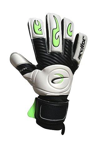 Luvas de Goleiro Arcitor Havik Negative Finger Protection Semipro (Branco Preto Verde) D-SOFT