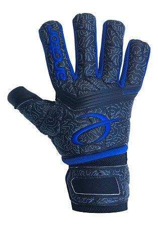 Luvas de Goleiro Arcitor Dumyat Negative Finger Support (Preto Azul Royal) D-SOFT 3.5mm