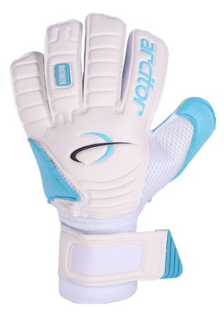 Luvas de Goleiro Arcitor Komino Flat (Branco Azul Claro) QW Elite
