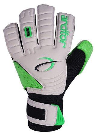 Luvas de Goleiro Arcitor Komino Flat (Branco Verde) QW Elite