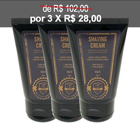 KIT 3 Cremes de Barbear Shaving Cream FUEL4MEN