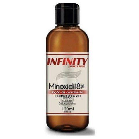 Minoxidil 8% 120 ml loção de crescimento e fortalecimento para barba cabelo e sobrancelhas
