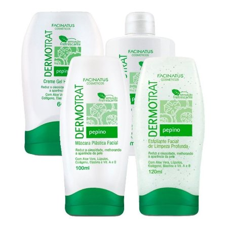 Kit Dermo Trat Pepino tratamento facial pele oleosa