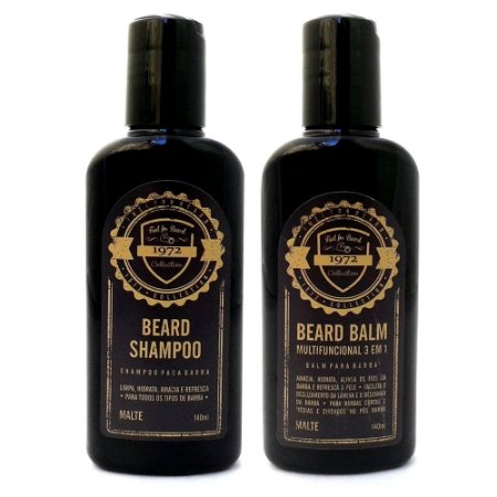 Kit para barba Shampoo + Balm Multifuncional 3 em 1  140ml