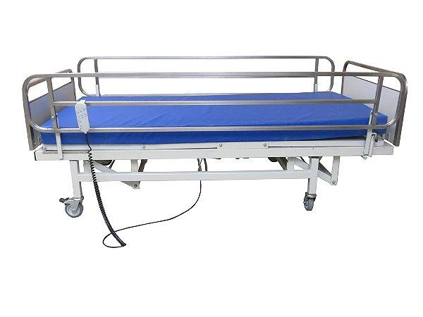 Aluguel Cama Hospitalar Eletrônica 03 Movimentos C/ Colchão Ortopédico