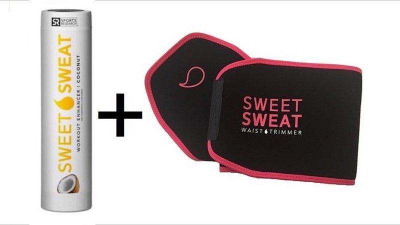 Kit Sweet Sweat Coconut 182g + Cinta Neoprene Original PINK