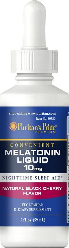 Melatonina Líquida Puritan's Pride - 10mg - (Sabor Cherry)